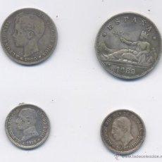 Monedas de España: LOTE DE 4 MONEDAS-GOBIERNO PROVISIONAL-ALFONSO XIII. Lote 42720210