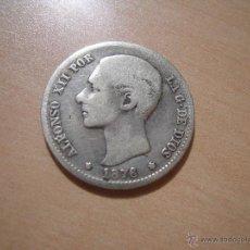 Monedas de España: 1 PESETA ALFONSO XII 1876 - DE M - PLATA. Lote 42794352