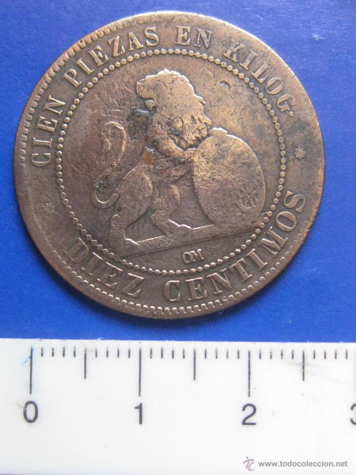Monedas de España: 10 CENTIMOS 1870 GOBIERNO PROVISIONAL - Foto 2 - 42842078