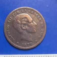 Monedas de España: 5 CENTIMOS 1877 OM ALFONSO XII. Lote 42846374