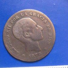 Monedas de España: 5 CENTIMOS 1878 OM ALFONSO XII. Lote 42846389