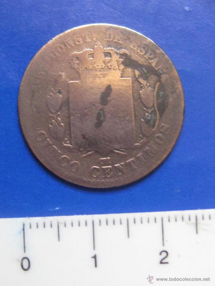 Monedas de España: 5 CENTIMOS 1878 OM ALFONSO XII - Foto 2 - 42846389
