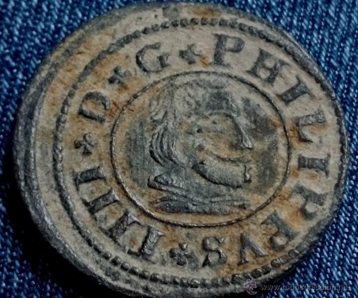 MONEDA DE FELIPE IV 16 MARAVEDIS 1663 SEGOVIA (Numismática - España Modernas y Contemporáneas - De Reyes Católicos (1.474) a Fernando VII (1.833))