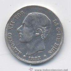 Monedas de España: ALFONSO XII- 2 PESETAS- 1883. Lote 43028566