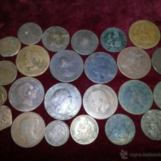 Monedas de España: LOTE DE MONEDAS DE COBRE ESPAÑOLAS Y ALGUNA EXTRANJERAS . Lote 43209596