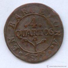 Monedas de España: MUY RARA. 4 CUARTOS AÑO 1812 DE BARCELONA JOSE NAPOLEON. Lote 43272832