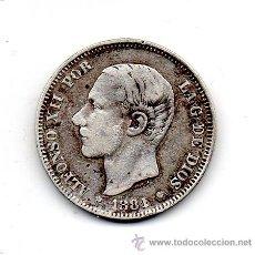 Monedas de España: ALFONSO XII. 2 PESETAS. AÑO 1881 *81 MS -M. PLATA.. Lote 43403812
