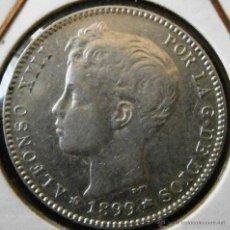 Monedas de España: ALFONSO XIII 1 PESETA 1899*99 VER FOTOS. Lote 43560430
