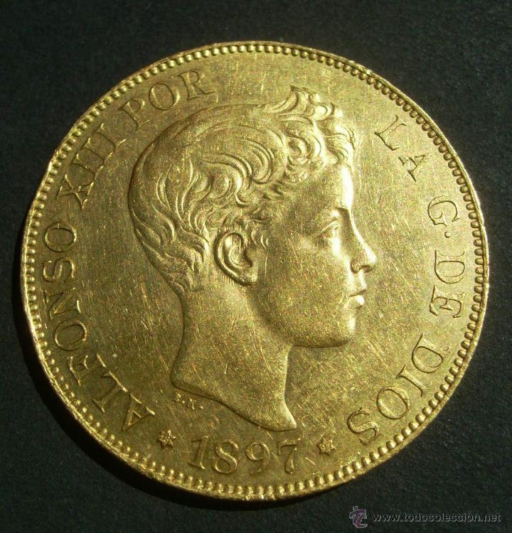 ESPAÑA 100 PESETAS ORO ALFONSO XIII E,B.C- VARIANTE SIN CATALOGAR (Numismática - España Modernas y Contemporáneas - De Isabel II (1.834) a Alfonso XIII (1.931))