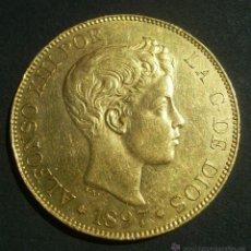 Monedas de España: ESPAÑA 100 PESETAS ORO ALFONSO XIII E,B.C- VARIANTE SIN CATALOGAR. Lote 43573036