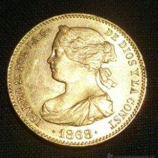 Monedas de España: ESPAÑA ISABEL II 10 ESCUDOS ORO 1868*18-73 S/C ,PERTENE A LA PRIMERA REPUBLICA. Lote 43575077