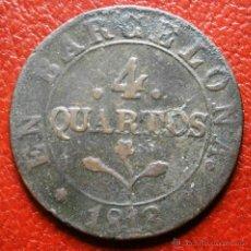 Monedas de España: OCUPACIÓN NAPOLEÓNICA 4 CUARTOS 1813 BARCELONA. Lote 43631928