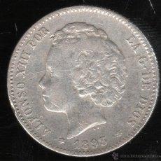 Monedas de España: MONEDA DE 1 PESETA. ALFONSO XIII. 1893. P.G.L. ESTRELLA VISIBLE. Lote 43838283