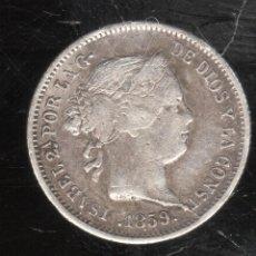 Monedas de España: MONEDA DE 1 REAL. ISABEL II. 1859. MADRID.. Lote 156567072
