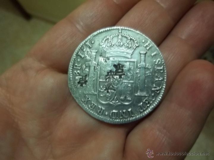 MONEDA PLATA CON CUÑOS CHINOS 1818 FERNANDO VII (Numismática - España Modernas y Contemporáneas - De Reyes Católicos (1.474) a Fernando VII (1.833))