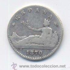 Monedas de España: GOBIERNO PROVISIONAL- 50 CENTIMOS- 1870. Lote 43940481