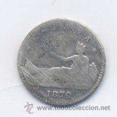 Monedas de España: GOBIERNO PROVISIONAL-50 CENTIMOS- 1870. Lote 43940488
