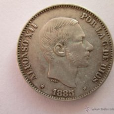 Monedas de España: ALFONSO XII * 50 CENTAVOS DE PESO * 1885 * FILIPINAS * PLATA. Lote 43966934