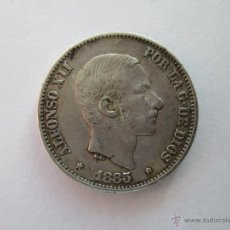 Monedas de España: ALFONSO XII * 50 CENTAVOS DE PESO * 1885 * FILIPINAS * PLATA. Lote 43966954