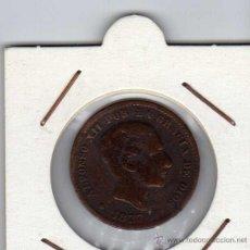 Monedas de España: ALFONSO XII : 5 CÉNTIMOS 1877 OM BARCELONA BC+. Lote 43967440