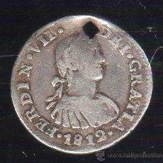 Monedas de España: FERNANDO VII. 1812. MEDIO REAL. 1/2 REAL. MEJICO HJ. Lote 122041027