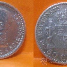 Monedas de España: 20--50 CENTS ALFONSO XIII 1910 P.C.V. ESTRELLAS 1-0---- E B C. Lote 44289750