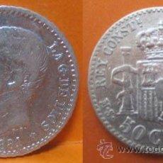 Monedas de España: 28 A--ESPAÑA-50 CÉNTIMOS DE PLATA-ALFONSO XII (12), 1881, 8-1. Lote 44290702