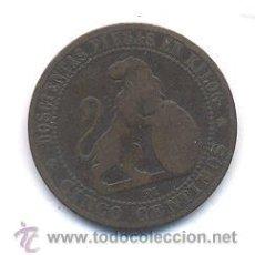 Monedas de España: MONEDA DE COBRE AÑO 1870 5 CENTIMOS. Lote 44463640
