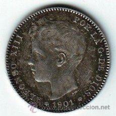 Monedas de España: ESPAÑA 1 PESETA PLATA 1901 *19* *01* ALFONSO XIII MUY BELLA. Lote 44917516