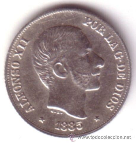 ESPAÑA 10 CENTAVOS DE PESO 1885 ALFONSO XII MANILA S/C - ISLAS FILIPINAS **NUMISBUR** (Numismática - España Modernas y Contemporáneas - De Isabel II (1.834) a Alfonso XIII (1.931))