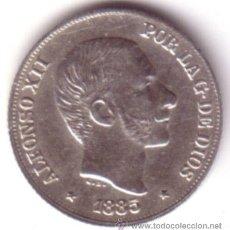 Monedas de España: ESPAÑA 10 CENTAVOS DE PESO 1885 ALFONSO XII MANILA S/C - ISLAS FILIPINAS **NUMISBUR**. Lote 45004419
