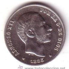 Monedas de España: ESPAÑA 20 CENTAVOS DE PESO PLATA 1885 MANILA (ISLAS FILIPINAS) REY ALFONSO XII S/C **NUMISBUR*. Lote 45101294