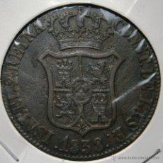 Monedas de España: ISABEL II 6 CUARTOS 6 CUAR 1838 PRINCIPADO DE CATALUÑA VER FOTOS. Lote 45143220