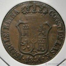 Monedas de España: ISABEL II 6 CUARTOS 6 CUAR 1841 PRINCIPADO DE CATALUÑA VER FOTOS. Lote 45143276