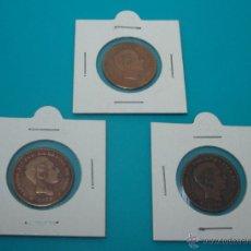 Monedas de España: LOTE 3 MONEDAS ALFONSO XII CINCO CENTIMOS 1877 1878 1879 COBRE. Lote 45230618