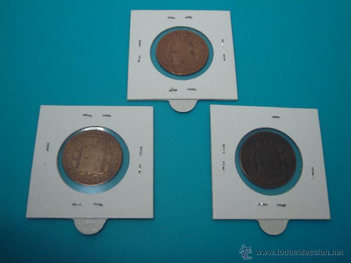 Monedas de España: LOTE 3 MONEDAS ALFONSO XII CINCO CENTIMOS 1877 1878 1879 COBRE - Foto 2 - 45230618