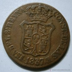 Monedas de España: ISABEL II 3 CUARTOS 3 CUARS PRINCIPADO DE CATALUÑA 1837 CORDONCILLO DEL CANTO A LA DERECHA. Lote 45263894