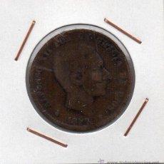 Monedas de España: ALFONSO XII : 10 CÉNTIMOS 1877 OM BARCELONA BC-. Lote 45352865