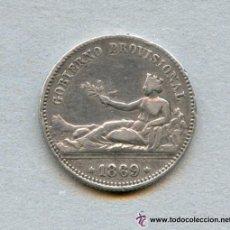 Monedas de España: 1 PESETA GOBIERNO PROVISIONAL 1869 MADRID SNM PLATA. Lote 133673401