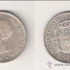 Monedas de España: MONEDA DE ALFONSO XIII DE 50 CÉNTIMOS-PGM DE MADRID DE 1892 *9-2. EBC+ CATÁLOGO GUERRA-41. (ALF5).. Lote 45467957