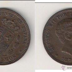 Monedas de España: MONEDA DE ALFONSO XII DE 5 CÉNTIMOS-OM DE BARCELONA DE 1877. EBC+ CATÁLOGO GUERRA-17. (AL1).. Lote 45469711