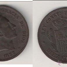 Monedas de España: MONEDA DE ALFONSO XII DE 10 CÉNTIMOS-OM DE BARCELONA DE 1877. MBC+ CATÁLOGO GUERRA-24. (AL10).. Lote 45470130