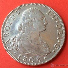 Monedas de España: ¡¡ ESCASA !! MONEDA DE PLATA DE 8 REALES DE CARLOS IV. MADRID. 1808.. Lote 45498324