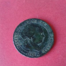 Monedas de España: ISABEL II. 2 1/2 CENTIMOS DE ESCUDO DE 1868. JUBIA,. Lote 45540665
