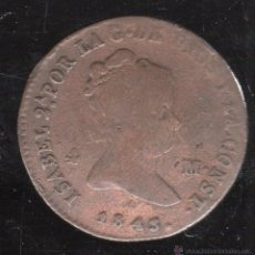 Monedas de España: 4 MARAVEDIS. ISABEL II. 1843. SEGOVIA. Lote 45620843