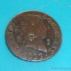 Monedas de España: MONEDA DE 2 MARAVEDIES FERNANDO VII AÑO 1833 CECA SEGOVIA. Lote 45649014