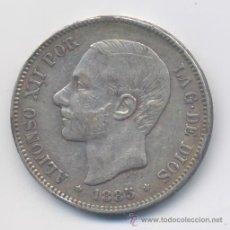 Monedas de España: ALFONSO XII- 5 PESETAS- 1885*18-87 MSM. Lote 45654381