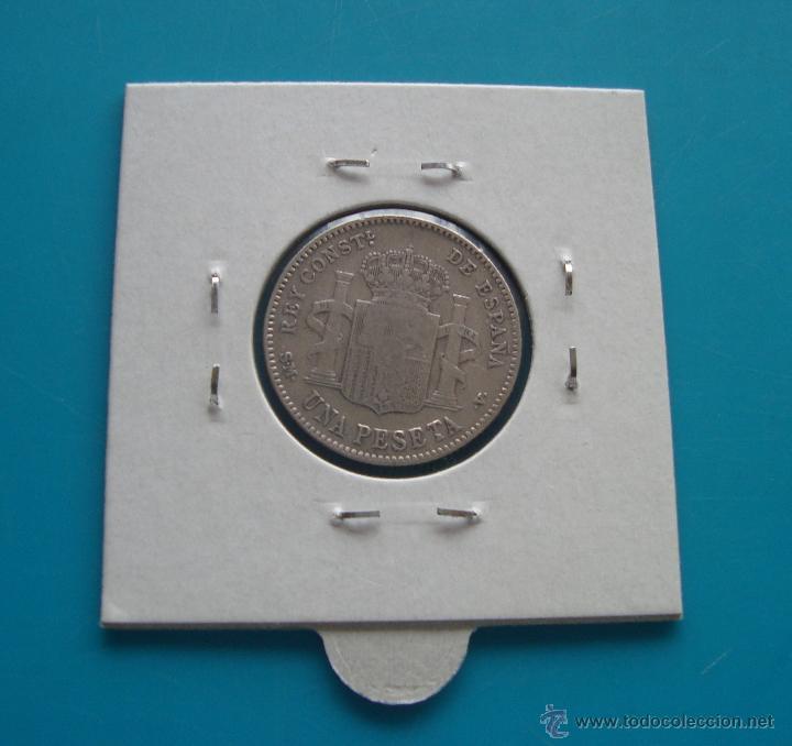 Monedas de España: MONEDA DE PLATA DE 1 PESETA ALFONSO XIII AÑO 1900 SM V - Foto 2 - 45675246