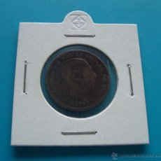 Monedas de España: MONEDA DE COBRE 5 CENTIMOS AÑO 1879 AFONSO XII. Lote 45678122