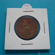 Monedas de España: MONEDA DE COBRE 5 CENTIMOS AÑO 1870 GOBIERNO PROVISIONAL. Lote 45678175